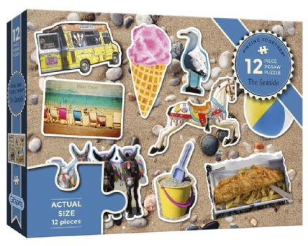 The Seaside, Piecing Together 12 Extra Large Piece Gibsons Jigsaw Puzzle